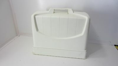 Sewing Machine White Plastic Case (Base And Lid)