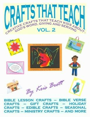 CRAFTS THAT TEACH Vol 2 - Book on CD - 30 Kids Crafts CHRISTIAN/BIBLE/HOLIDAY