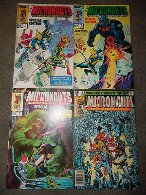 "Marvel Comics The Micronauts #1, 2, 3 ""Special Edition"" & ( regular #9 )"