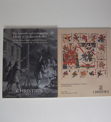 1996 Christie's Catalog SCIENTIFIC ANTIQUARIAN LIBRARY OF DR SAMUAL KOSLOV & Map