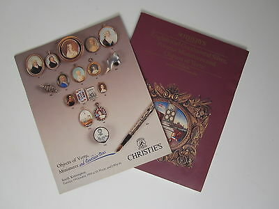 1989 Sotheby's 1993 Christie's Catalog Silver Portrait Miniatures Objects Vetru
