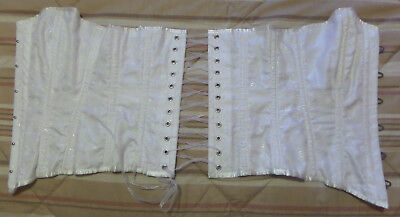 Leg Avenue Metal Boned Satin Waist White Corset Medium 100% Polyester Preowned