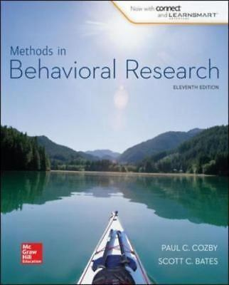Methods in Behavioral Research 12e Global Edition