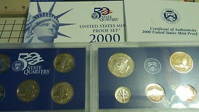 2000 US (S)  MINT PROOF COIN SET 10 coins IN ORIGINAL PACKAGING Perfect Mint NIB