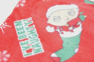 NWT FAMILY GUY NAUGHTY STEWIE Pajama Lounge Pant Christmas Size Mens MED + FS