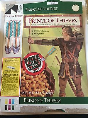 Prince of Thieves Cereal Box 1991