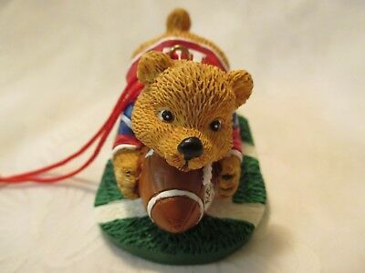 Avon Sports Bear Ornament- Football Teddy (Gift Collection 1998)