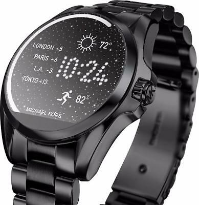 078a401f82a20 MICHAEL KORS ACCESS Bradshaw Black Touchscreen Smartwatch MKT5005 ...
