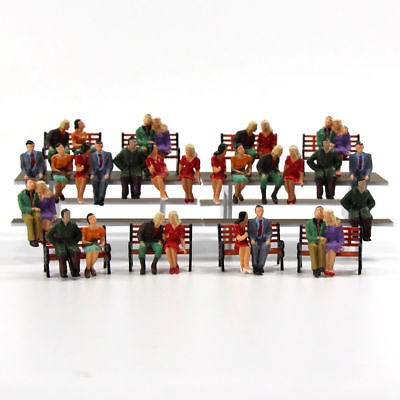 P4805 32 All Seated Figures O scale 1:48 Painted People Model Railway NEW