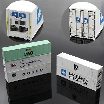 C8722 3PCS 40ft Hi-Cube Refrigerater Shipping Container Freight Cars HO Scale
