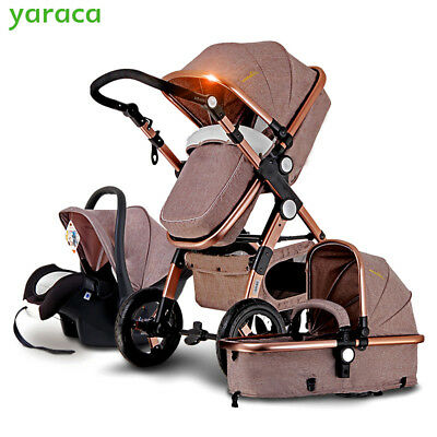 Baby Pram 3 in 1 with Car Seat For Newborn Pushchairs Folding Baby Carriage