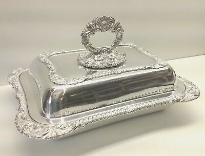 Silver Plate Large Lidded Vegetable Tureen Martin Hall Sheffield.