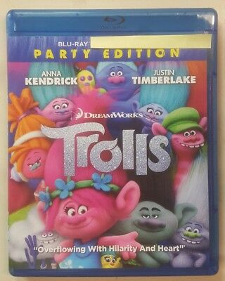 Trolls (Bluray, 2017) No DVD No Digital Code No Slipcover