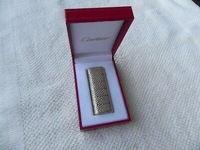 Accendino Cartier In Oro 18K-750 Lighter Cartier Solid Gold 18K And Silver 925