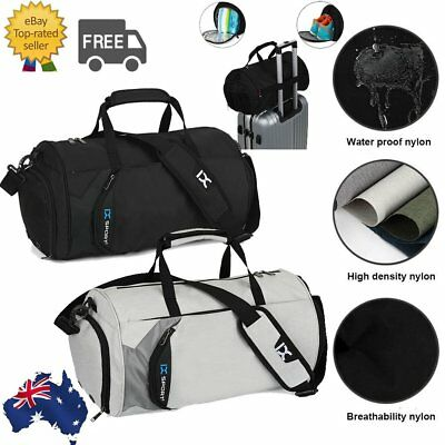 Gym Fitness Bag Travel Sports Handbag with Shoes Compartment Waterproof Luggage