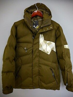 XII337 Men Salomon Warm Down Filled Expensive Skiing Snowboarding Jacket L