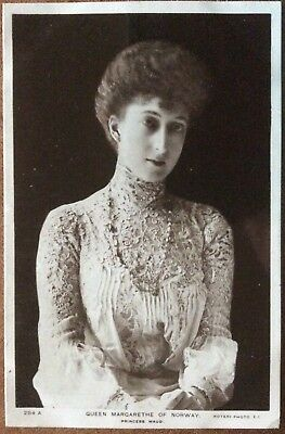 Antique Rppc Portrait Of Queen Margarethe Of Norway (Princess Maud) Rotary 284A