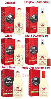 OLD SPICE Aftershave Lotion (Original, Musk, Fresh Lime) 50ml, 100ml, 150ml