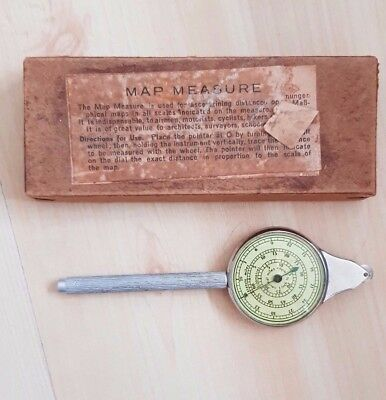 Vintage Opisometer Map Measure Pocket Size Nautical Miles to Inches