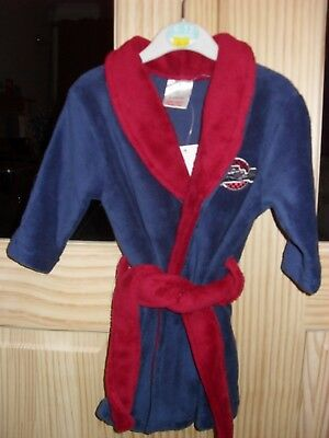 Boys BNWT Dressing Gown Blue / Red 6-12 Months