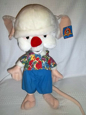 "1997 WARNER BROS Large 25"" Plush PINKY & The BRAIN w/ TAG Stuffed ANIMANIACS"