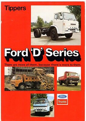 Ford D-Series Tippers 1975-76 UK Market Foldout Sales Brochure
