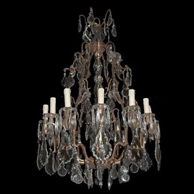 Antique Unique Chandelier Xxl In French Louis Xvi Style