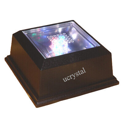 4 LED light base for 3D photo crystal engraved glass art lighted display stand