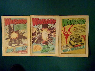 3 Off Warlord Comics No 309, 311, 336 Dated Aug/sept 1980 And February 1981