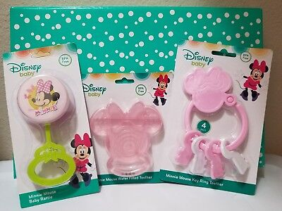Disney Baby MINNIE MOUSE Key Toy, Teething Keys and Baby Rattle Baby Toy