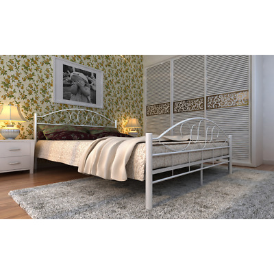 bett metallbett bettgestell doppelbett bettrahmen lattenrost tagesbett wei eur 99 95. Black Bedroom Furniture Sets. Home Design Ideas