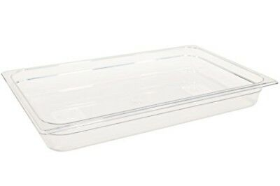 """Rubbermaid Commercial Products Cold Food Pan, 2-1/2"""" Deep Pan, Full Size, Clear"""