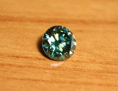 1.2ct Teal Moissanite - Beautiful Precision Cut Gem - Sea Green/Blue