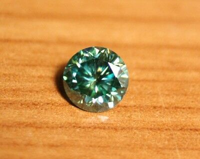 1.33ct Teal Moissanite - Beautiful Precision Cut Gem - Sea Green/Blue