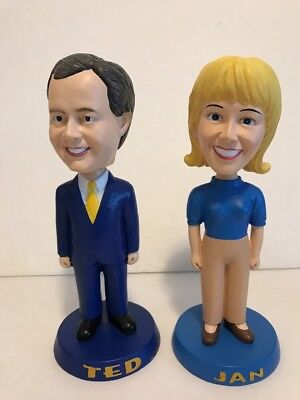 Mountaineer Racetrack & Casino Former CEO TED ARNEAUT & JAN Bobbleheads