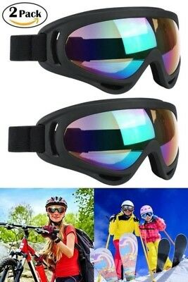TWO Snow Goggles Ski Goggles Cycling Lenses Windproof UV 400 for MEN WOMEN KIDS