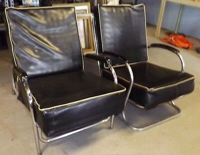 Wolfgang Hoffmann For Howell Chrome Lounge Machine Age Lounge Chairs