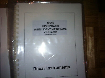 Racal 1261B VXI Mainframe Manual - New in Plastic