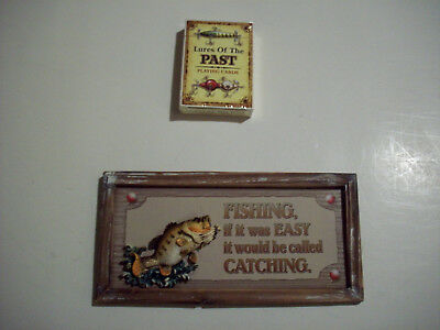 Single Deck Of Lures Of The Past Playing Cards With A Plaque Catching Vs Fishing