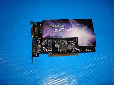 RAZER BARRACUDA AC-1 Gaming Audio Card, 7 1 Channels, PCI, S