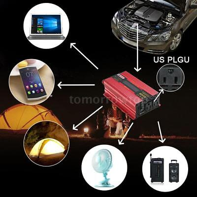 2000W/3000W Car LED Power Inverter Converter DC 12V To AC 110V USB Charger WATT