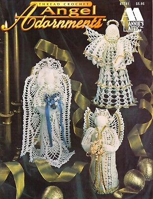 New Angel Adornments Christmas 6 Designs Crochet Pattern Book