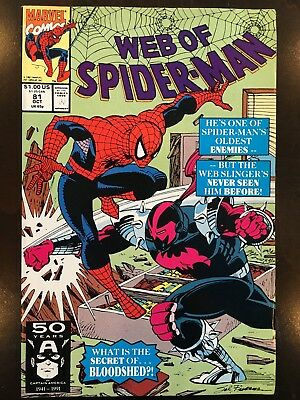 Web of Spider-Man Lot #81, 82, 83, 84, 85, 86, 87, 88, 89, Annual 8 1992