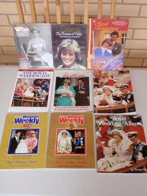 Bulk Books Magazines All Princess Diana Wedding Womens Weekly Royal Who + Poster
