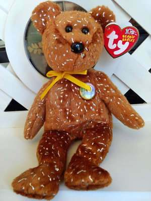 TY Beanie Baby Babies DECADE Brown Bear TyStore Exclusive NEW Retired PE Pellets