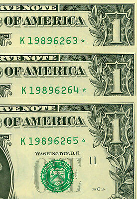 2013  $ 1 ( Set of 3 STARS ) - K 263 * -   World Paper Money currency bank notes