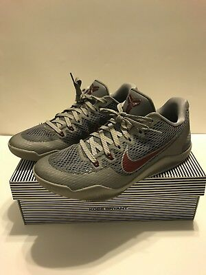 reputable site 124ea 14234 ... closeout nike kobe xi 11 lower merion aces shoes cool grey red size  10.5 3757b fb14c