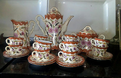 Servizio Da Caffe' Antico - Coffee The Porcelain Service Antique Vintage Bohemia