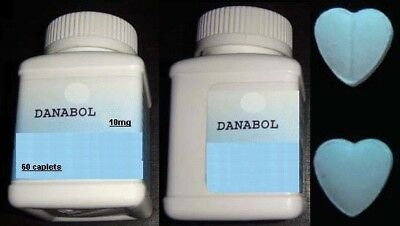 Danabol - 60 Pills 10mg - Body Building - ANABOLIC GYM - CUORI BLU - BLUE HEARTS