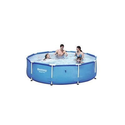 BESTWAY STEEL PRO Frame Swimming Pool Set Round Above Ground 12ft x ...